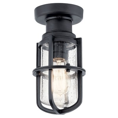 Kichler Lighting 49861BKT Suri 1 Light Flush Mount Textured Black