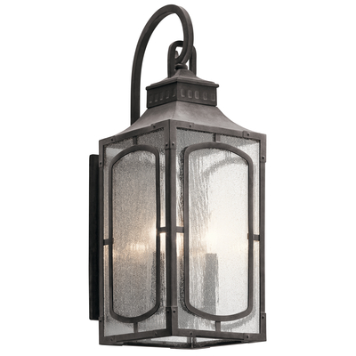 "Kichler Lighting 49931WZC Bay Village™ 23"" 3 Light Wall Light Weathered Zinc"
