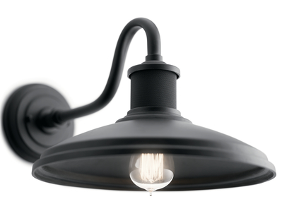 "Kichler Lighting 49980BKT Allenbury™ 12"" 1 Light Wall Light - Textured Black"