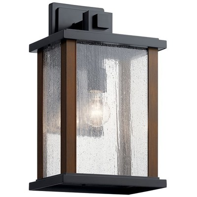 "Kichler Lighting 59018BK Marimount™ 17"" 1 Light Outdoor Wall Light with Clear Glass Black"