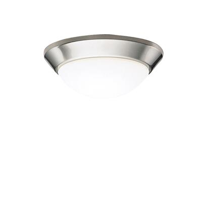 "Kichler Lighting 8880NI Ceiling Space 10"" 1 Light Flush Mount Brushed Nickel"