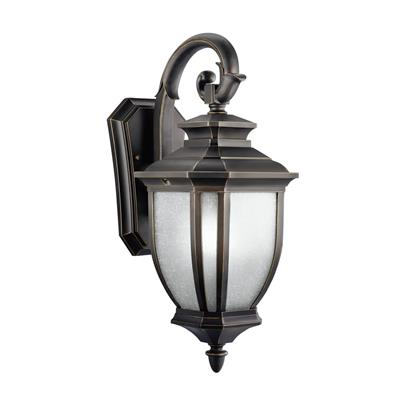 "Kichler Lighting 9040RZ Salisbury™ 19.5"" 1 Light Wall Rubbed Bronze™"