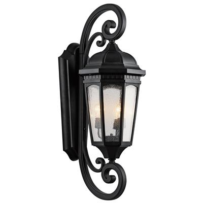"Kichler Lighting 9060BKT Courtyard™ 40.5"" 3 Light Wall Light Textured Black"