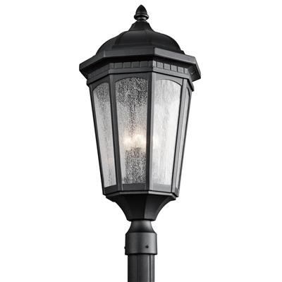 Kichler Lighting 9533BKT Courtyard™ 3 Light Post Light - Textured Black
