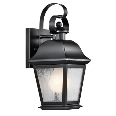 "Kichler Lighting 9707BK Mount Vernon 12.5"" 1 Light Wall Light Black"