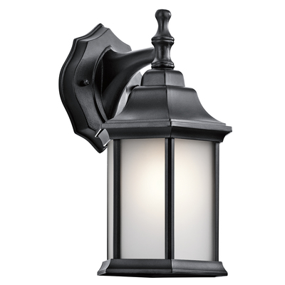 Kichler Lighting 9776BKS Chesapeake™ 1 Light Wall Light -Black