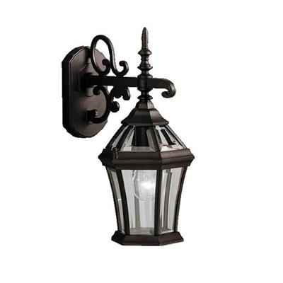 "Kichler Lighting 9789BK Townhouse™ 15.25"" 1 Light Wall Light Black"