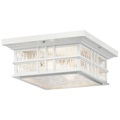 Kichler Lighting 9834WH Beacon Square CLIMATES™ 2 Light Flush Mount White
