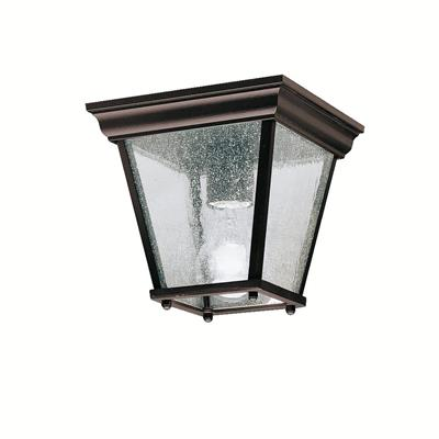 "Kichler Lighting 9859BK 7.25"" 1 Light Flush Mount Black"