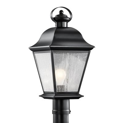 Kichler Lighting 9909BK Mount Vernon 1 Light Post Light Black