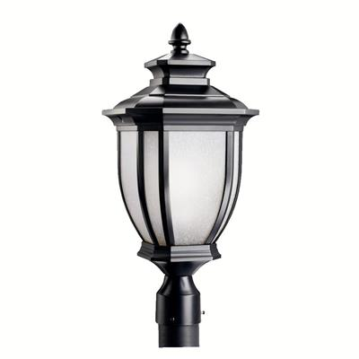 Kichler Lighting 9938BK Salisbury™ 1 Light Post Light Black